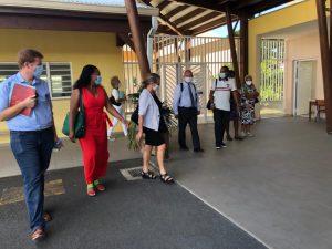 Visite de la rectrice dans l'école MA CELLON